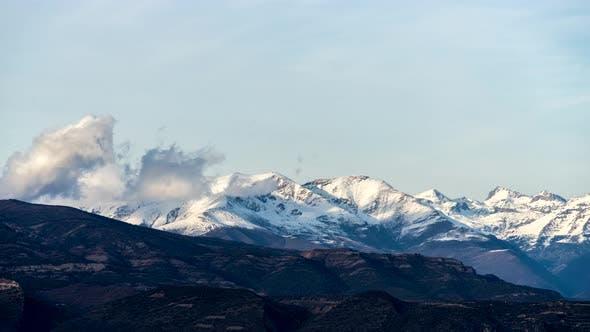 Berge Gipfel Szene Zeitraffer.