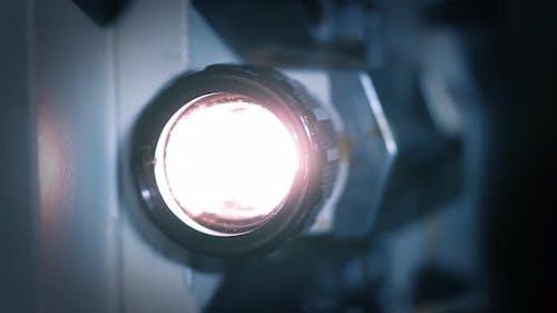 Film Projector, Cinema Projector, Projector Lens. 4K Version.