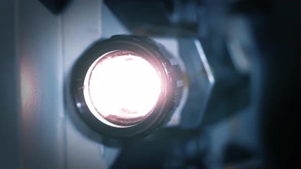 Movie Projector. Closeup. 4K Version.