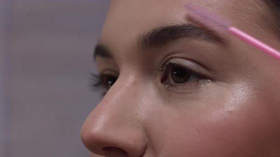 Combing Eyebrows