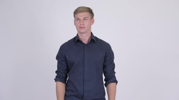 Thumbnail for Young Handsome Blonde Businessman Thinking