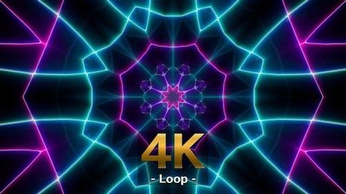 Fast Blink Cyber Neon Line Background Loop 4K 03
