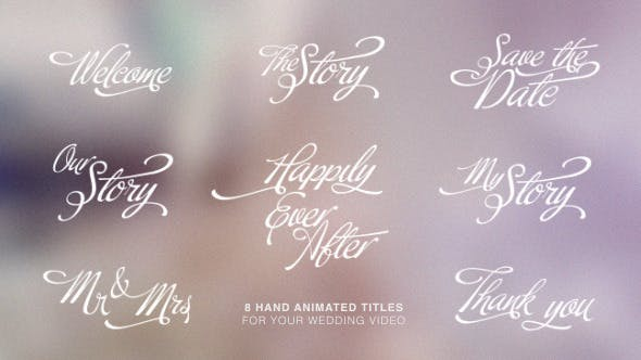 Thumbnail for Calligraphic Wedding Title Set