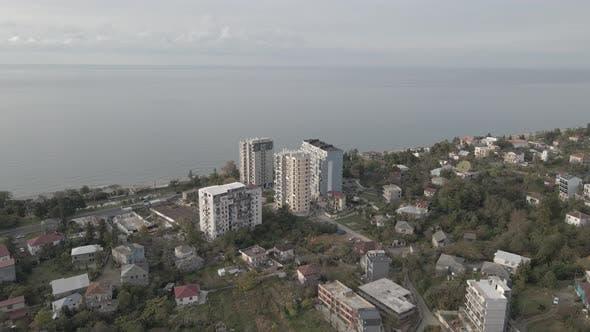 Thumbnail for Makhinjauri, Georgia - Aerial view of Makhinjauri coast