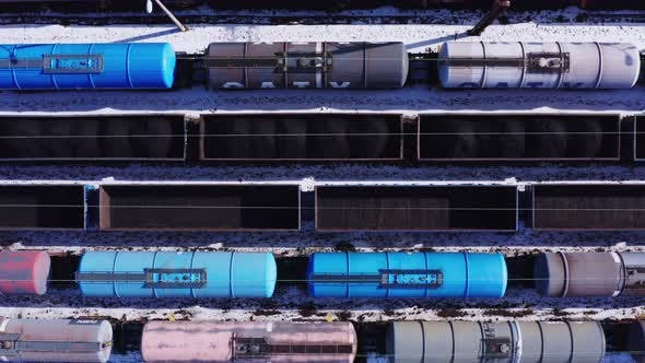 Train Cars Top View