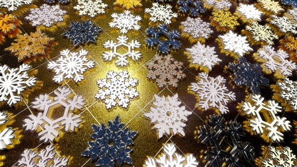 Thumbnail for Colorful Snowflakes Flicker 41