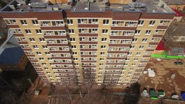 Thumbnail for - New Block of Flat Being Built in the Suburbs, Aerial View. Russia