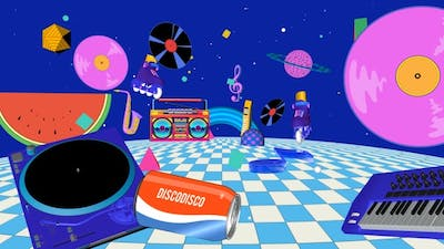 Pop Disco Dancing Party Background