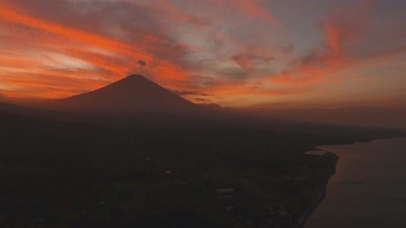 Thumbnail for Active Volcano Gunung Agung in Bali, Indonesia.
