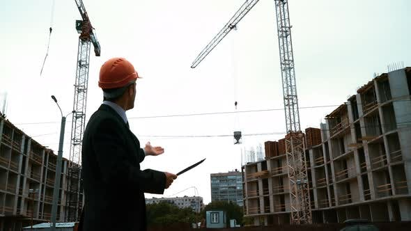 Thumbnail for Architect Conduct the Construction Crane