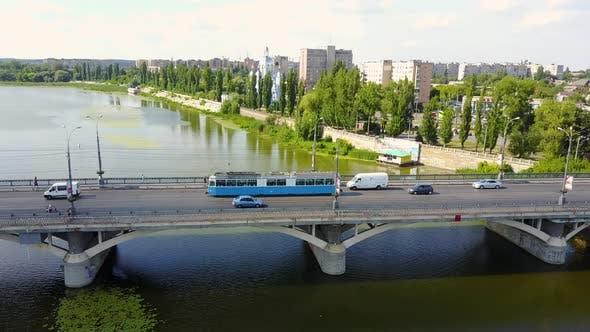 Bridge Road With Automobile Traffic