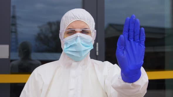 Thumbnail for Healthcare Worker in Protective Gear Outdoors