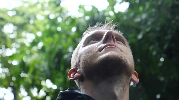 Thumbnail for Motivational Uplifting Inspirational Portrait Of Man In The Rain
