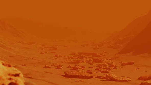 Thumbnail for Landscape of Planet Mars Surface with Yellow Rocks