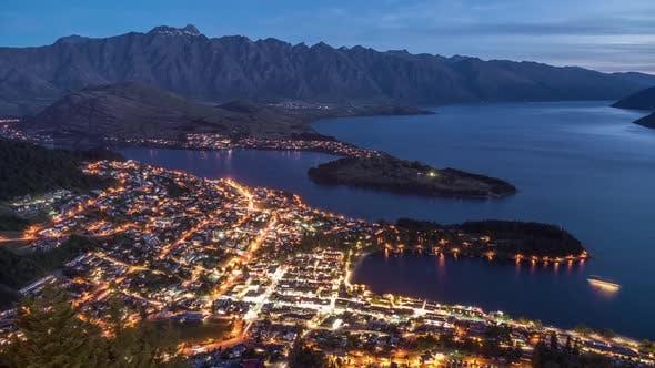 Queenstown New Zealand Twilight