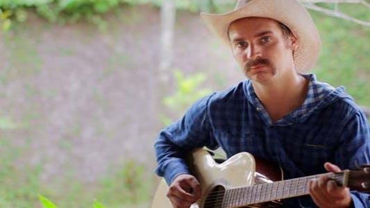 Thumbnail for Cool Caucasian Man Playing Guitar