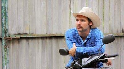 Cowboy On Motorbike