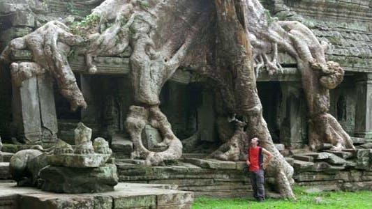Thumbnail for Man Walking In Preah Khan Temple