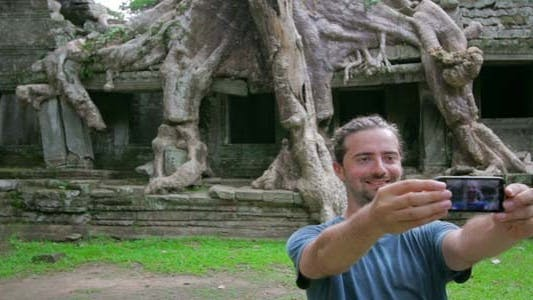 Thumbnail for Visitor Taking Picture Nature Of Preah Khan