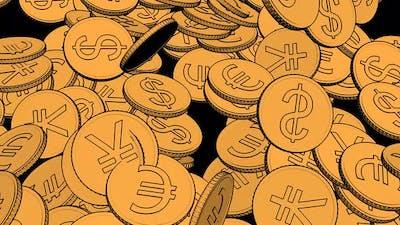 Cartoon Accounting Money in Cartoon Style