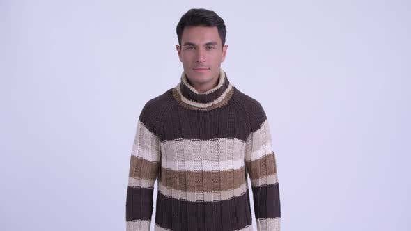 Thumbnail for Young Happy Hispanic Man Smiling Ready for Winter