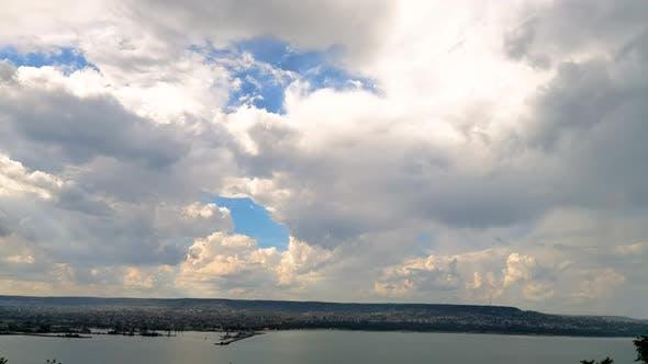 over the sea city