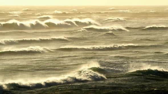 Thumbnail for Whitecapped Waves Gushing To the Shore - South Africa