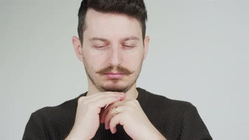 A worried man
