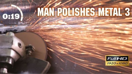 Cover Image for Man Polishes Metal 3