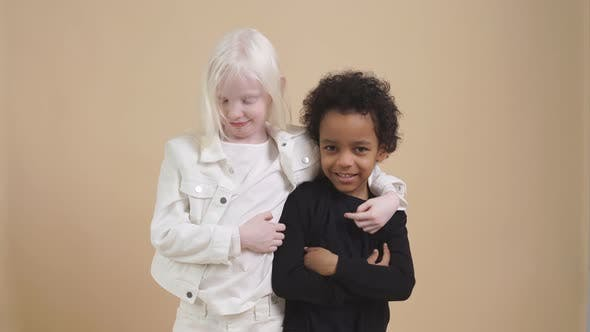 Cute Adorable Diverse Children Posing at Camera.