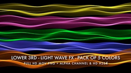 Thumbnail for Lower Third - Light Wave FX - Pack of 5
