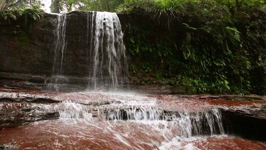Thumbnail for Waterfall In Borneo Ranforest River