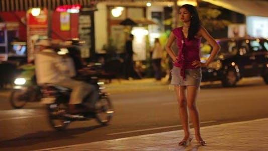 Prostitute Waiting For Costumer