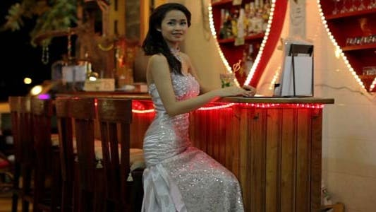 Thumbnail for Gorgeous Asian Woman Alone At Bar 3
