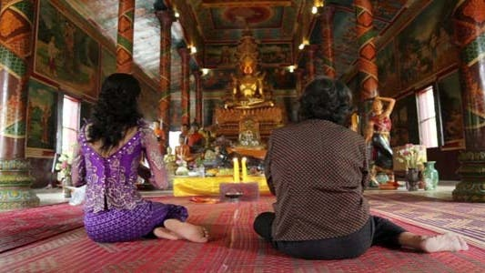 Thumbnail for Asian Girl Praying In Temple - Cambodia 6