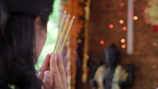 Thumbnail for Asian Girl Praying In Temple - Cambodia 4