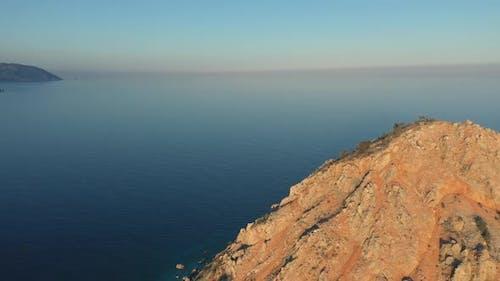 View of Sea Horizon and Blue Sky