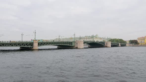 Thumbnail for Palace Bridge Over Neva River in Saint Petersburg in Daytime