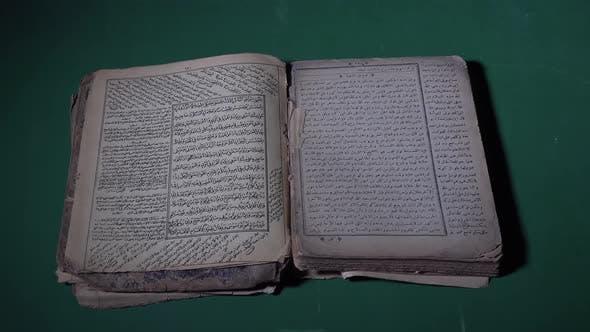 Old Muslim Holy Book 4K