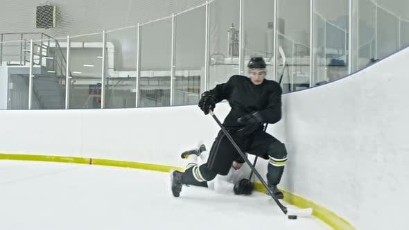 Thumbnail for Hockey Player Bordering Opponent