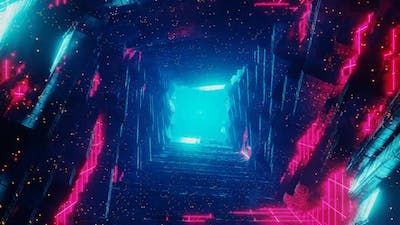 Infinite Loopable Rock Tunnel in Cyberspace