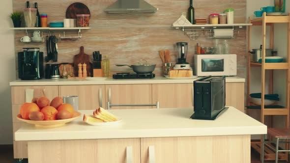 Zoom in Shot of Kitchen