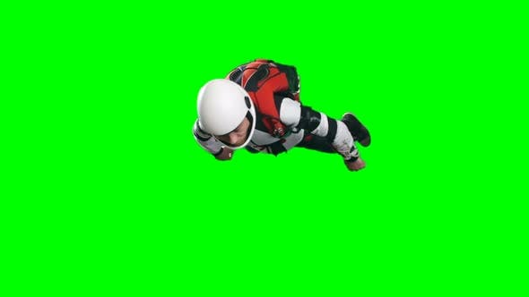 Thumbnail for Relaxed Parachutist Man Free Falling in Mid Air