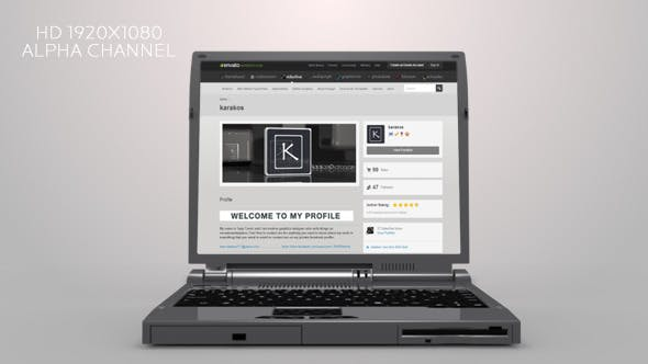 Thumbnail for 3D Transparent Laptop Open