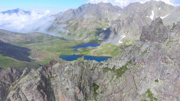 Cover Image for Flight Over Sharp Mountain Ridge