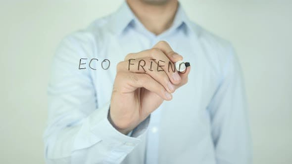 Eco Friendly, Writing On Screen