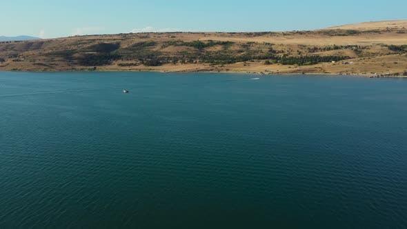 Summer Lake And Boats