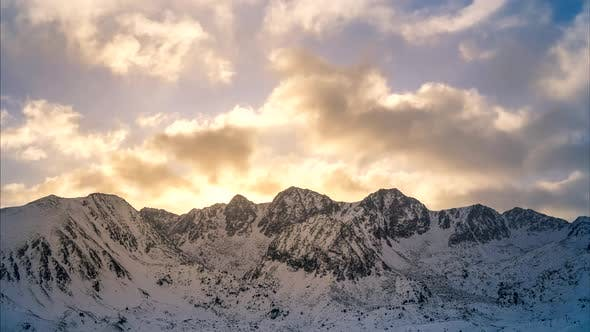 Winter time lapse in Andorra