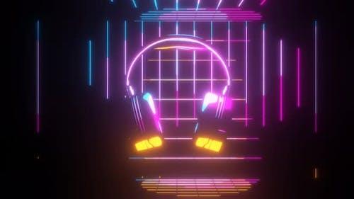 Colorful Glowing Headphones