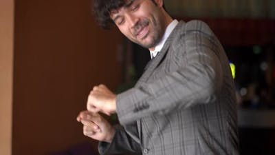 A Man Dancing with Joy and Fun